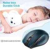 TeckNet Pro 2.4G Draadloze Muis | Geluidsarm - No Noise - No Sound - Geluidsarme - Geruisloos - Super Stille muis | 6 Knoppen | Tot 30 Maanden batterijduur | 3000DPI | Zwart_