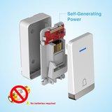 Tecknet draadloze deurbel met 1 ontvanger inclusief stopcontact | Duurzame zender zonder batterijen_