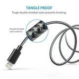 Anker Nylon gevlochten Lightning kabel MFI - 1.8M - Grijs (2 stuks)_