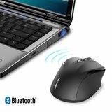 TeckNet Pro Bluetooth Draadloze Muis | 2600DPI / 5 levels - Zwart_