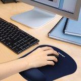 Tecknet Muismat met polssteun - Gelkussen - 23.5*19.5*0.2cm - Blauw_