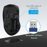 Tecknet Ergonomische 2.4G Draadloze Optische Mobiele Muis | 4800 DPI met USB Nano Ontvanger voor Laptop, PC, Chromebook, MacBook, Computer | 6 Knoppen | 30 Maanden Batterijduur | 5 DPI niveaus | Zwart_