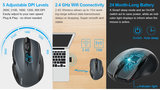 TeckNet Pro 2.4G Draadloze Muis, M3 | 2600DPI | Grijs_