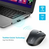 Tecknet Draadloze Muis, Alpha Plus 4800 DPI High Performance 2.4G USB Draadloze Muis Optische lens PC Computer Laptop Muis Met 30 Maanden batterijlevensduur, 5 instelbare DPI Niveaus, Nano Receiver, 6_