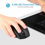 TeckNet Pro Bluetooth Draadloze Muis | 3000DPI / 5 levels - Zwart_