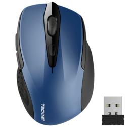 TeckNet Pro 2.4G Draadloze Muis, M3 | 2600DPI | Blauw