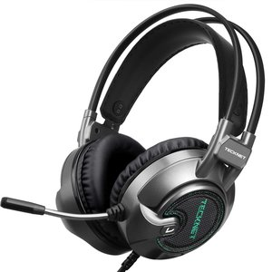 Tecknet Gaming Headset | 7.1 USB Surround Sound Headphone met 2.2 Meter kabel | Blue LED Light en Noise Cancelling Microfoon